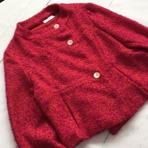 Marni Italian Red Pink Wool Mohair Blazer